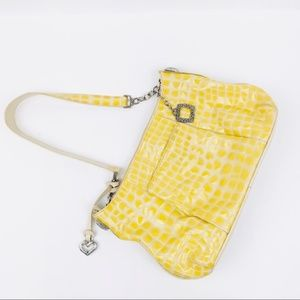 Brighton Yellow Shoulder Bag Zip Purse